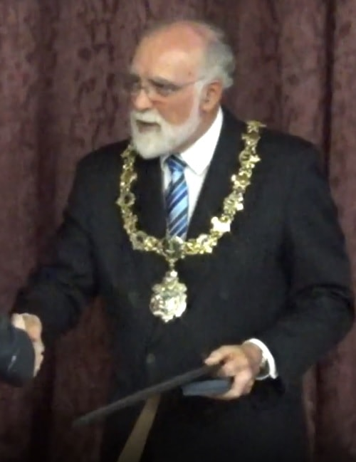 Retiring Mayor Cllr Geoffrey Watt 13th May 2019