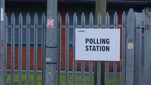 polling station 3 Holy Cross Primary School AC Bidston and St James 2nd May 2019 photo 4 of 8