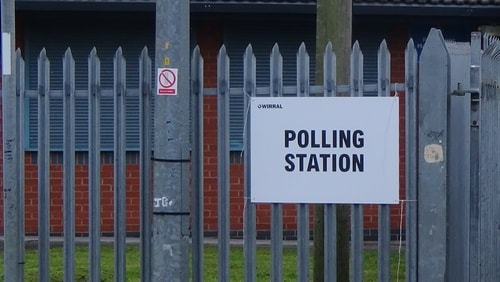 polling station 3 Holy Cross Primary School AC Bidston and St James 2nd May 2019 photo 5 of 8