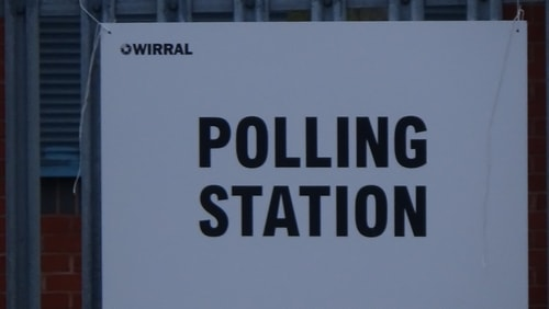 polling station 3 Holy Cross Primary School AC Bidston and St James 2nd May 2019 photo 6 of 8