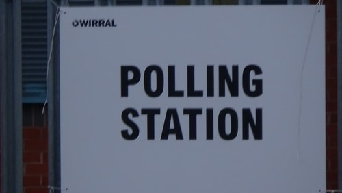polling station 3 Holy Cross Primary School AC Bidston and St James 2nd May 2019 photo 7 of 8