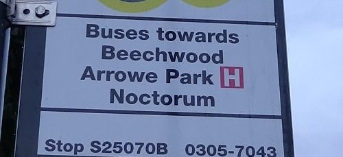 Bus stop Bidston Village Stop S25080B Buses towards Beechwood Arrowe Park Hospital Noctorum