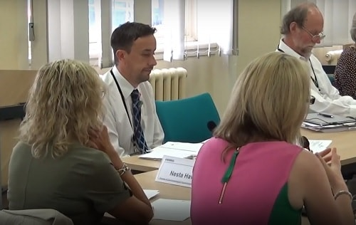 Dr Paula Cowan (right, foreground) (Wirral CCG Chair) 24th July 2019 Wirral Council Adult Care and Health Overview and Scrutiny Committee Walk In Centres