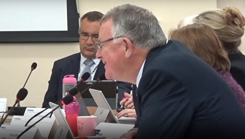Cllr Tony Jones (Cabinet Member for Regeneration and Growth) (foreground) at a meeting of Wirral Council's Cabinet (30th September 2019)