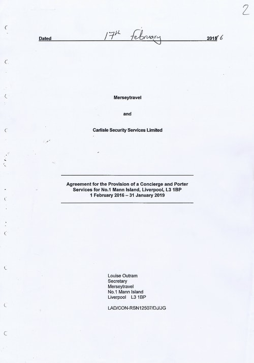 Merseytravel Carlisle Security Services Limited contract Page 1 of 33
