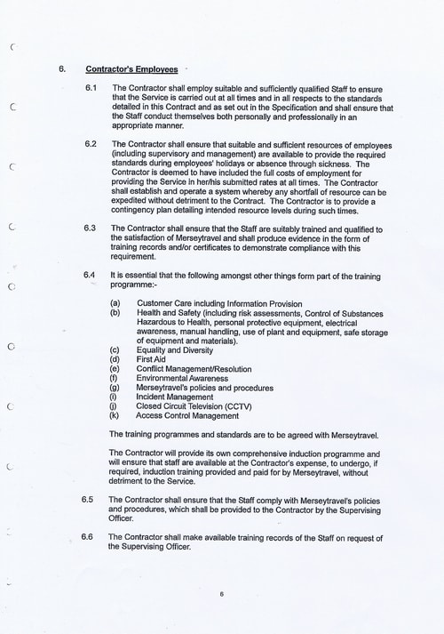 Merseytravel Carlisle Security Services Limited contract Page 14 of 33