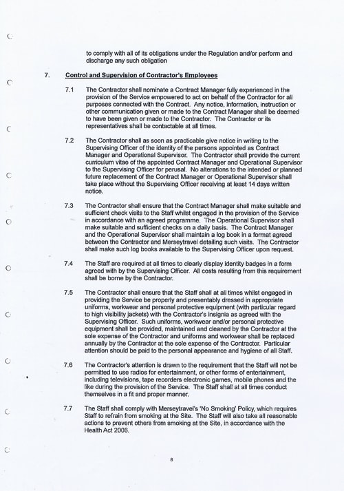 Merseytravel Carlisle Security Services Limited contract Page 16 of 33