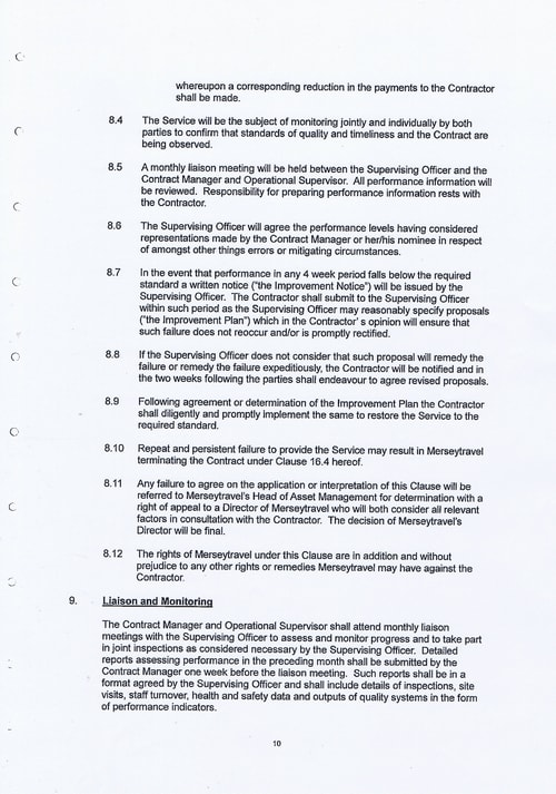 Merseytravel Carlisle Security Services Limited contract Page 18 of 33