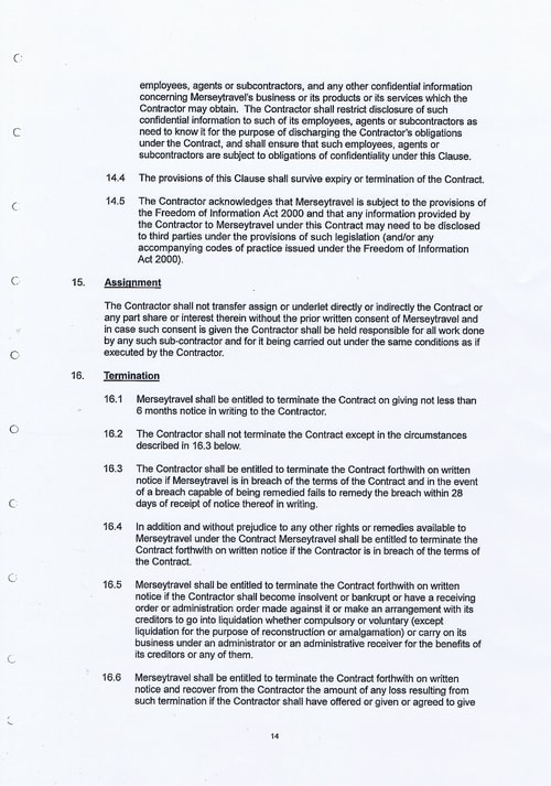 Merseytravel Carlisle Security Services Limited contract Page 22 of 33
