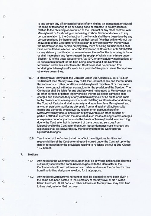 Merseytravel Carlisle Security Services Limited contract Page 23 of 33