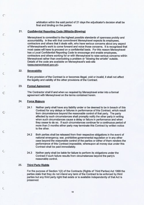 Merseytravel Carlisle Security Services Limited contract Page 26 of 33