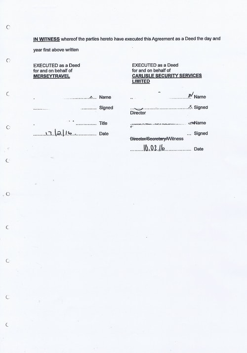 Merseytravel Carlisle Security Services Limited contract Page 3 of 33