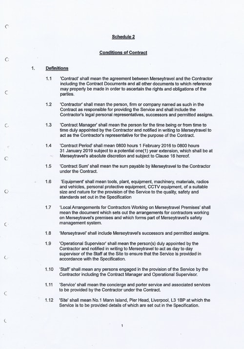 Merseytravel Carlisle Security Services Limited contract Page 9 of 33