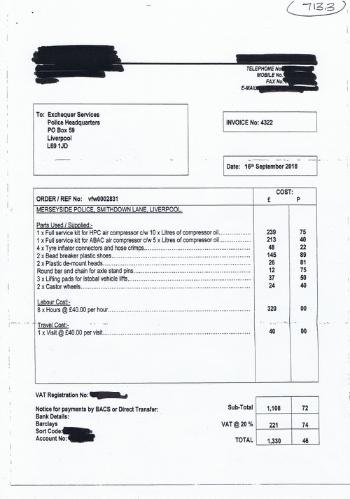 Merseyside Police invoice 713 page 3 of 3