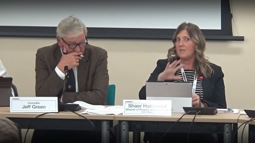 Wirral Council's Audit and Risk Management Committee (18th November 2019) Shaer Halewood (right) Cllr Jeff Green (left)