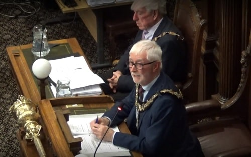 Mayor Cllr Tony Smith (13th January 2020) Wirral Council Local Plan meeting