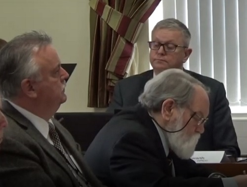 Cllr Les Rowlands and Cllr Adrian Jones (foreground) Merseyside Police and Crime Panel 7th February 2020