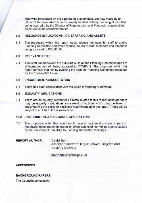 AOB report Planning Committee (Wirral Council) 19th March 2020 page 5