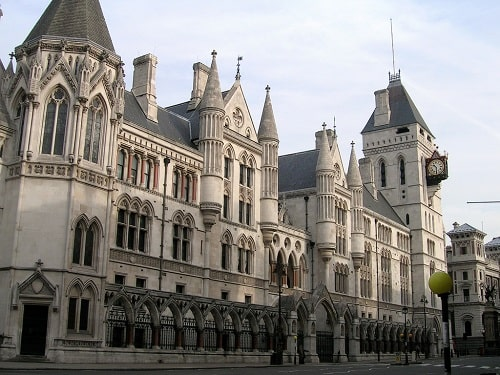 Royal Courts of Justice, London, UK (resized). Picture credit sjiong, made available under the CC BY-SA 2.0 licence