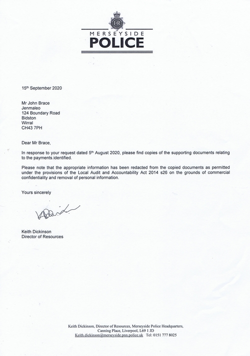 0 Merseyside Police covering letter 15th September 2020